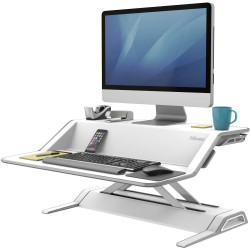 FELLOWES SIT STAND WORKSTATION Lotus White