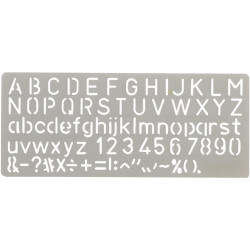 CELCO C10 LETTERING STENCIL 10mm Height
