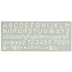 CELCO C15 LETTERING STENCIL 15mm Height