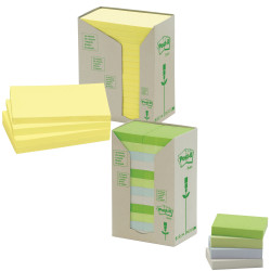 POST-IT 654-RTY NOTES TOWERS Recycled Yellow 73X73mm PK16