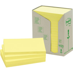 POST-IT 655-RTY NOTES TOWERS Recycled Yellow 73X123mm PK16