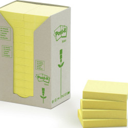 POST-IT 653-RTY NOTES TOWERS Recycled Yellow 35X48mm PK24