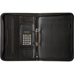 SPIRAX ZIPPERED COMPENDIUM A4 2 Ring Black