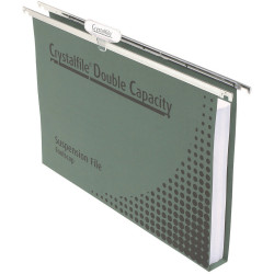 CRYSTALFILE SUSPENSION FILES Enviro Double Cap, with Tabs BX50