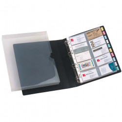 MARBIG BUSINESS CARD BOOK/CASE 500 Capacity