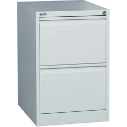 GO 2 DRAWER FILING CABINET H730xw460xd620mm Silver Grey