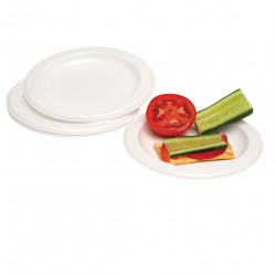 Marbig Disposable Plastic Plates 260mm Pack of 25