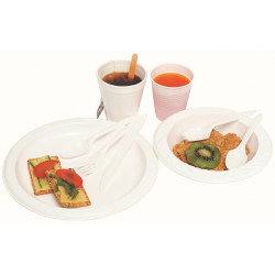 Marbig Disposable Plastic Bowls 180mm Pack of 50