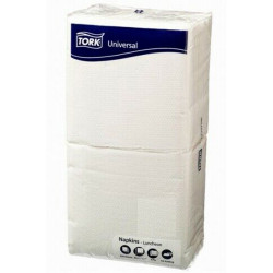 COST SAVER LUNCH SERVIETTES 1 Ply 320x315mm White PK250