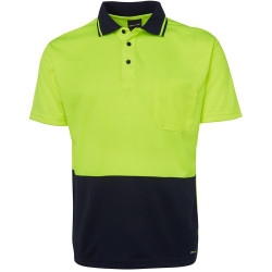 ZIONS 3811 SAFETY POLO SHIRT Two Tone Fluoro Short Sleeve
