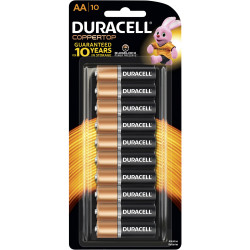 DURACELL COPPERTOP BATTERY AA Carded Pack Of 10