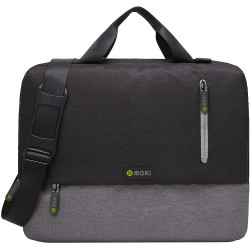 MOKI ODYSSEY SATCHEL Fits up to 15.6inch Laptop Black / Grey